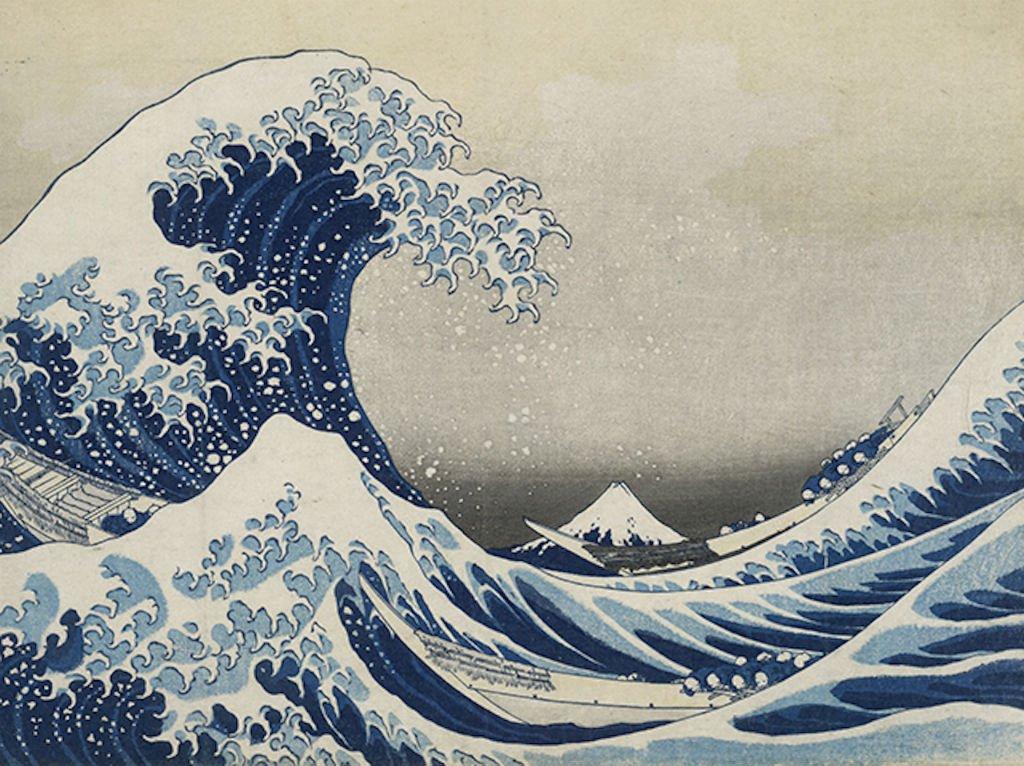 de golf van Hokusai
