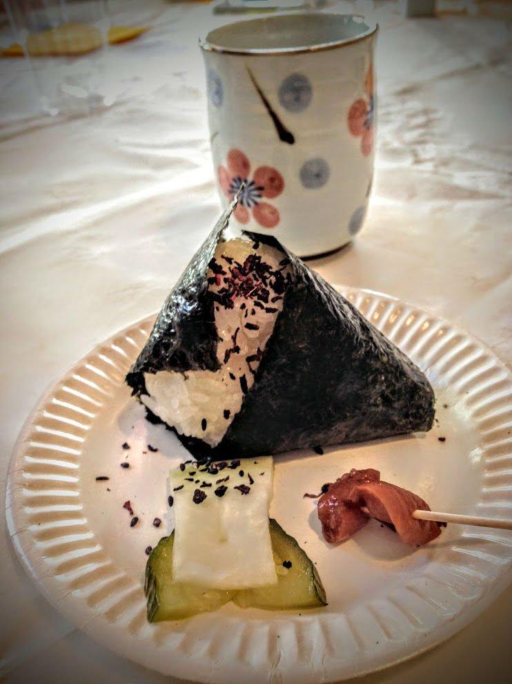 Onigiri met Japanse thee