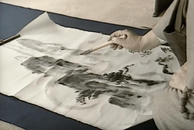Japans inktschilderen vanuit de gedachte