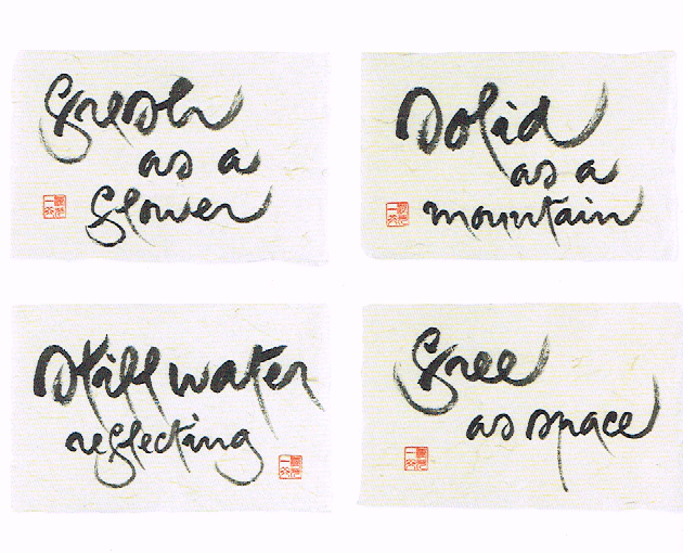 De Zen-kalligrafie van Thich Nhat Hanh