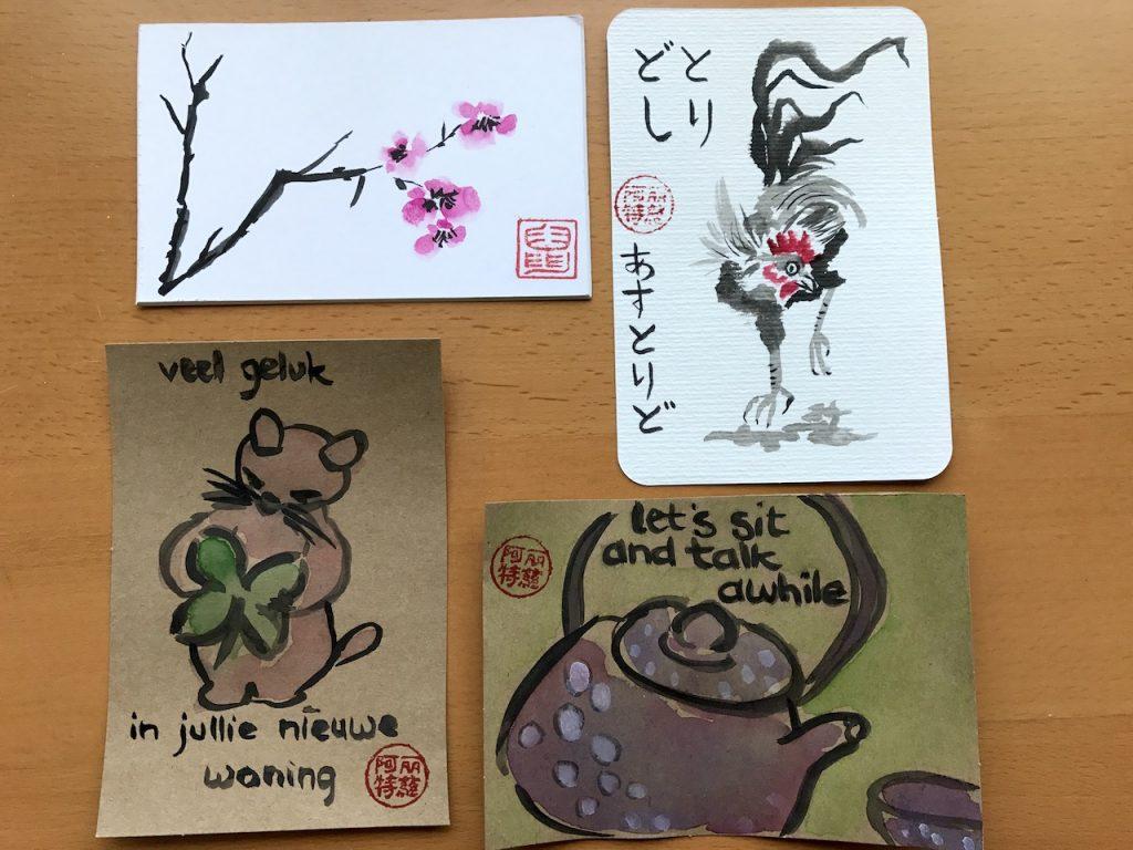 Japanse kaarten - etegami