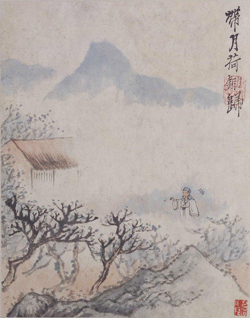 Shitao geinspireerd door dichter Tao Yuanming