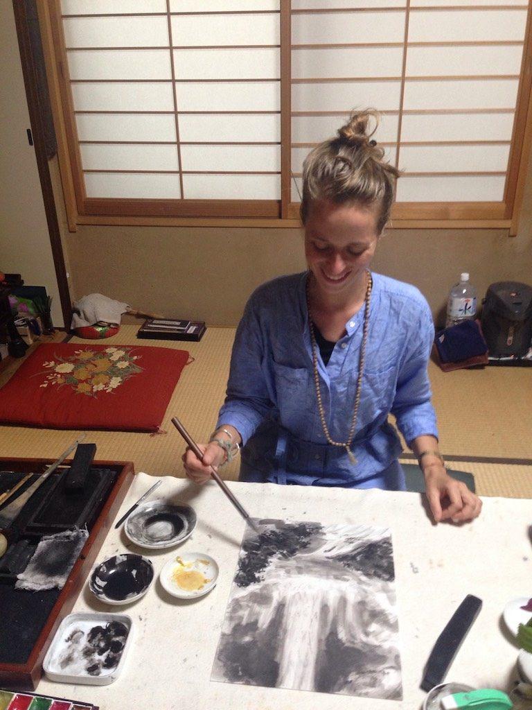 sumi-e schilderen maakt blij