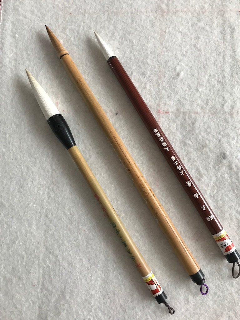 Penselen voor sumi-e, Japans inktschilderen en Chinees penseelschilderen