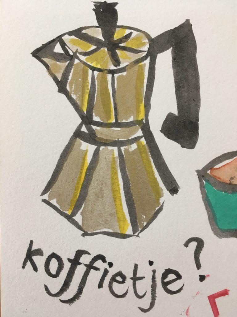 Etegami van Christel - koffietje