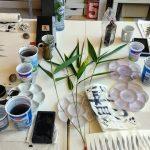 Bamboe in sumi-e schilderen