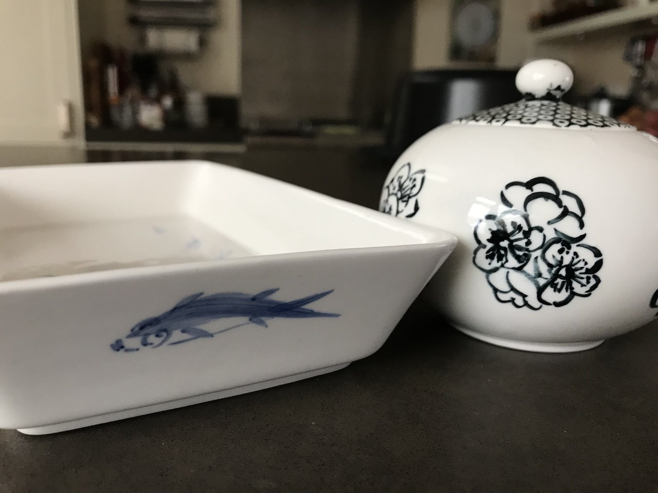 Mijn werk gedecoreerde werk op Chinees porselein