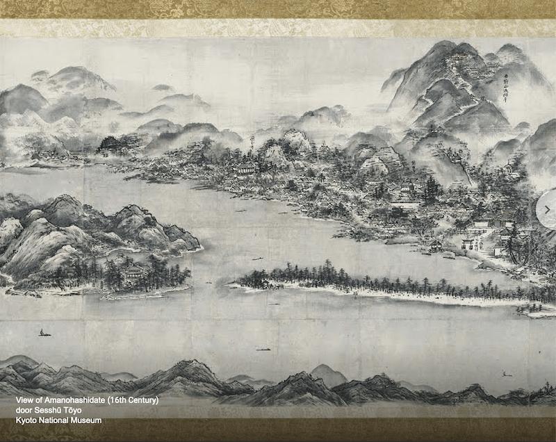 Sesshu Toyo - Zicht op Amanohashidate