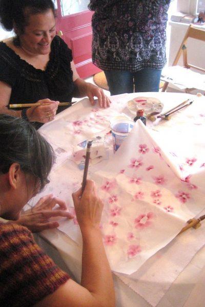 Astrid schildert de ume - pruimenbloesem